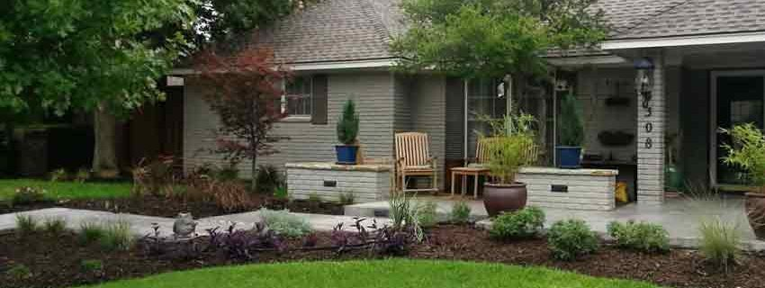 Makeover Sidewalk And New Patio Hardscape