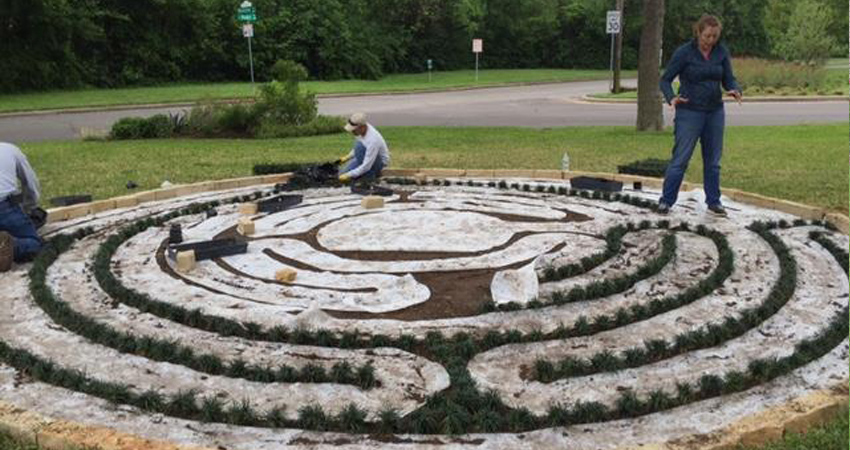 Labyrinth Garden - Gardens For Texas on simple maze designs, simple butterfly garden designs, small japanese garden designs, simple dog park designs, simple rock garden designs, simple japanese garden designs, meditation garden designs, school garden designs,